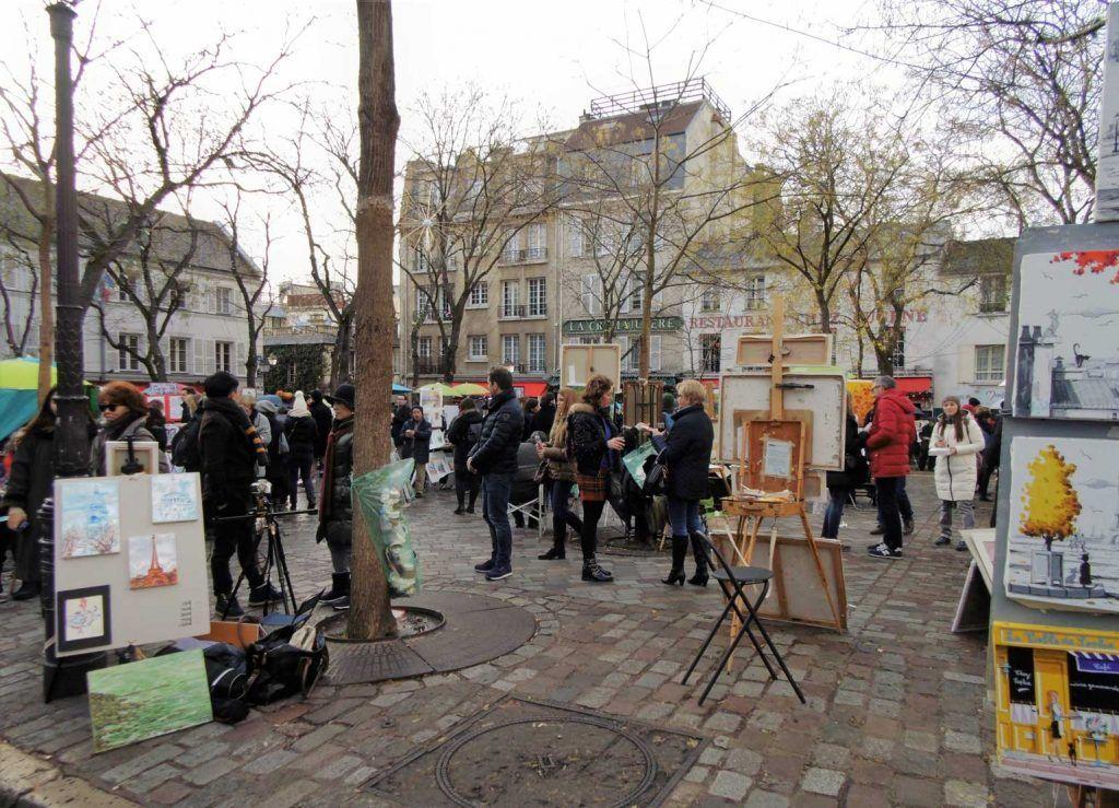 Pintores en Montmartre París