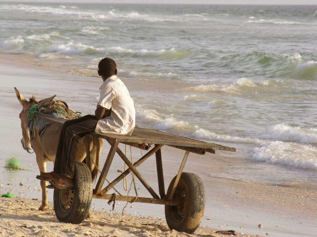 Niño pescador Mauritani