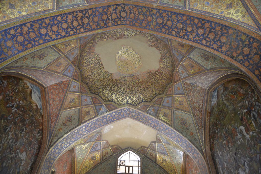 Interior de Chihil Sotun. Isfahan
