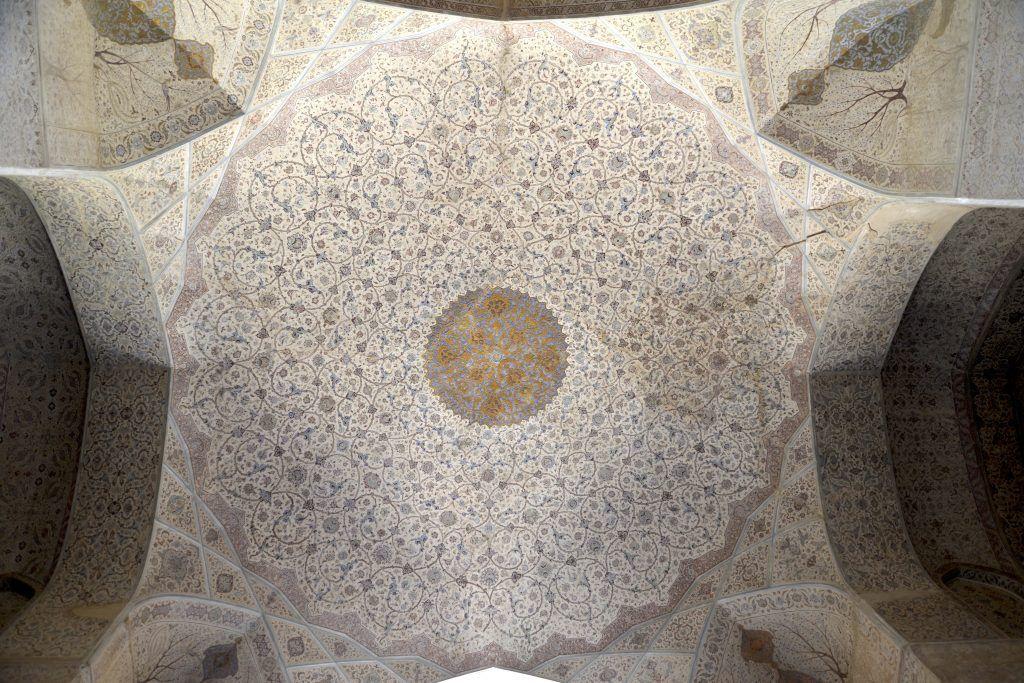 Cúpula de entrada en Ali Qapu. Isfahan