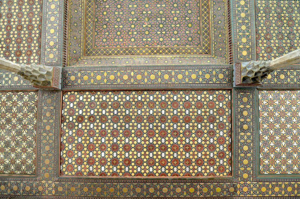 Techo de la terraza principal en Ali Qapu, Isfahan