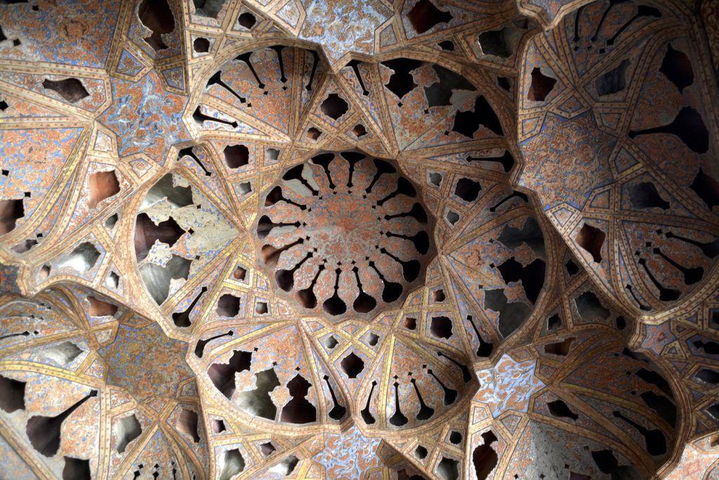 Mocárabes del salón de la música. Ali Qapu. Isfahan
