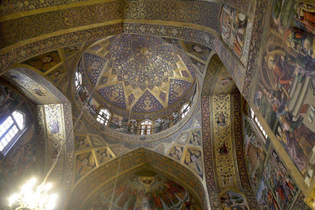 Cúpula catedral armenia. Isfahan