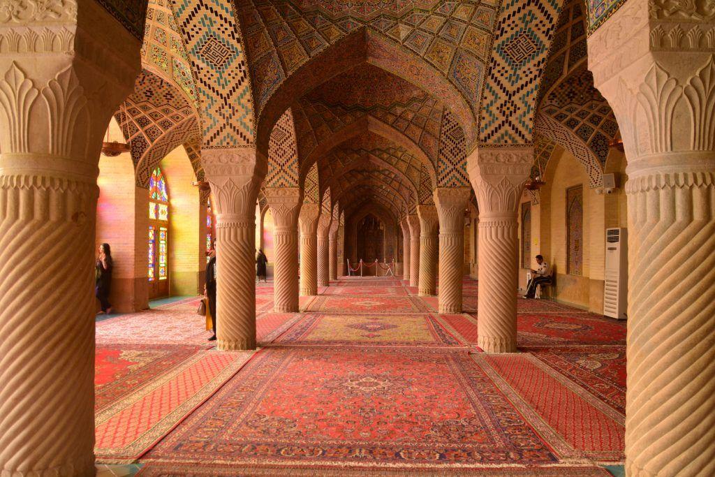 Interior Mezquita Nassir al Mulk. Shiraz