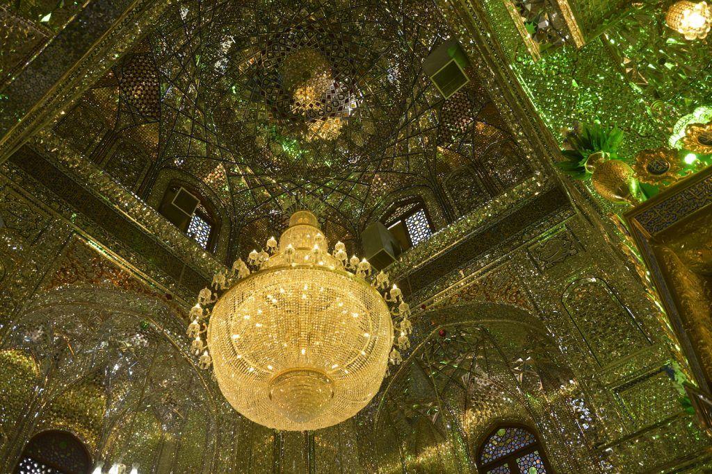 Interior Mausoleo Sidi Aladdin Hussein. Shiraz