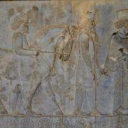 Sobrerrelieve en Persépolis. Irán
