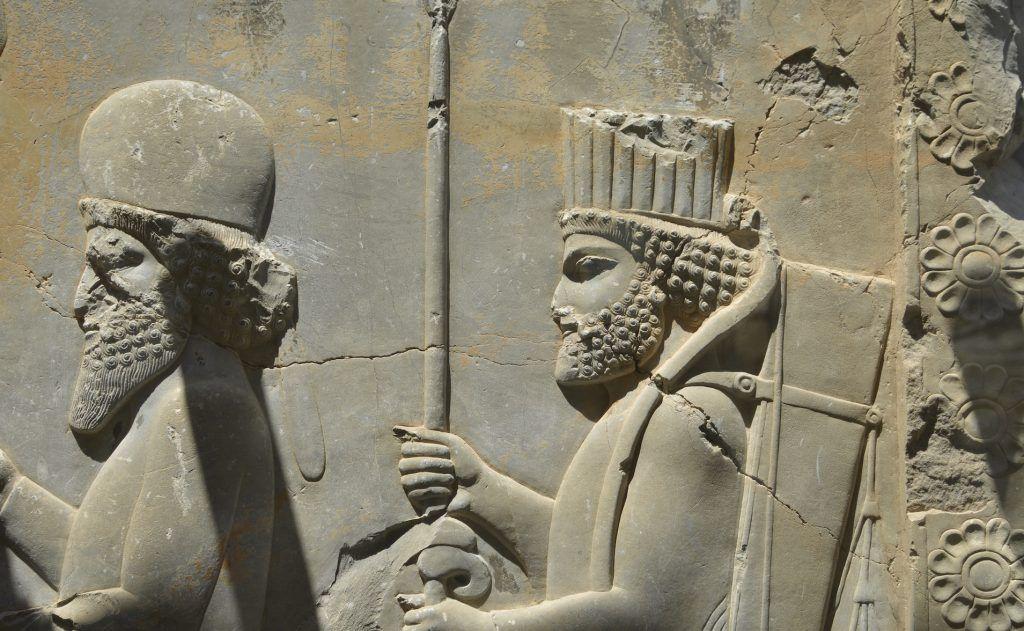 Friso en sobrerrelieve. Persepolis, Irán