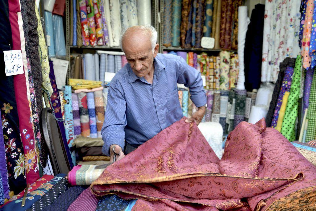 El vendedor de telas. Shiraz