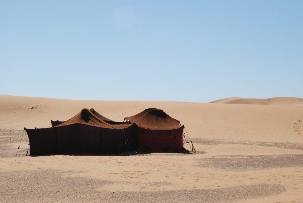 Jaima de piel en Merzuga (Marruecos)