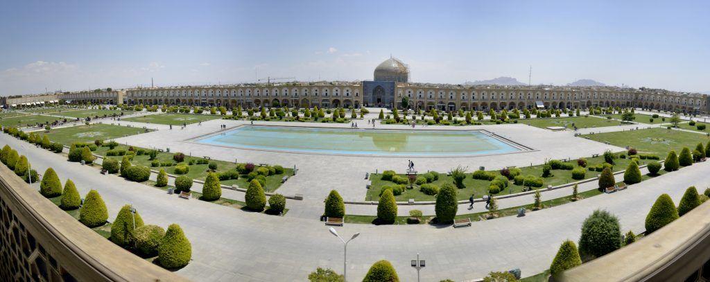 Plaza de Naqsh-i-Jahan o gran maidán de Isfahan