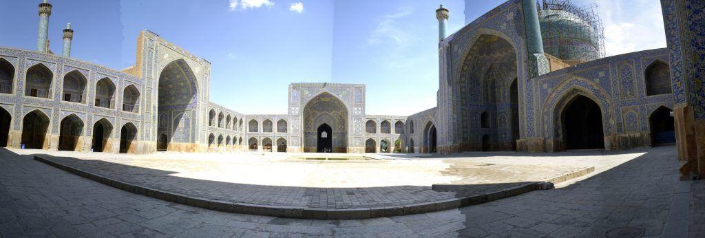 Patio central Mezquita del sha en Isfahan
