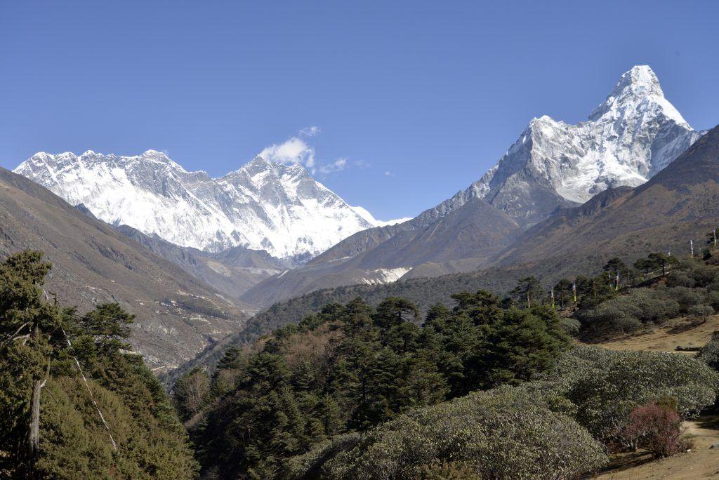 Valle del Imla Khola desde Tyangboche. Nepal