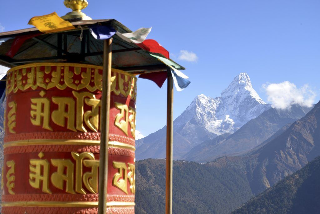 Ama Dablam desde Kiangjuma. Nepal