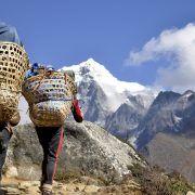 Sherpas en Mong La. Nepal