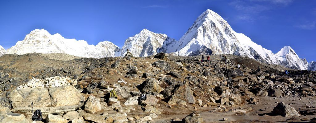 Panorámica Pico Pumori y circo del Khumbu. Nepal